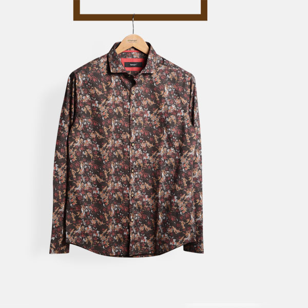 Aruba Brown Floral Shirt-mbview-1