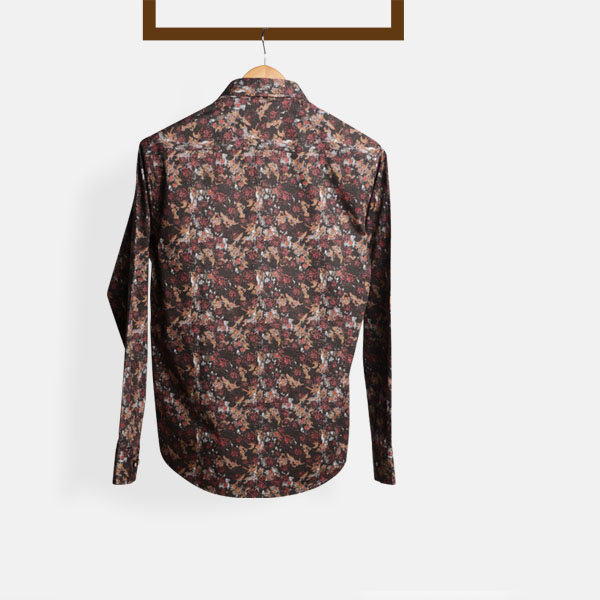 Aruba Brown Floral Shirt-mbview-2