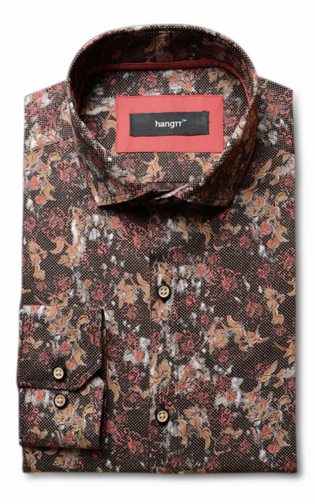 Aruba Brown Floral Shirt
