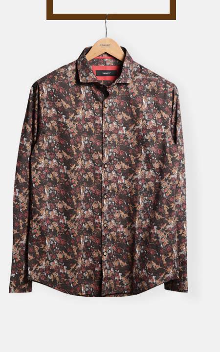 Aruba Brown Floral Shirt