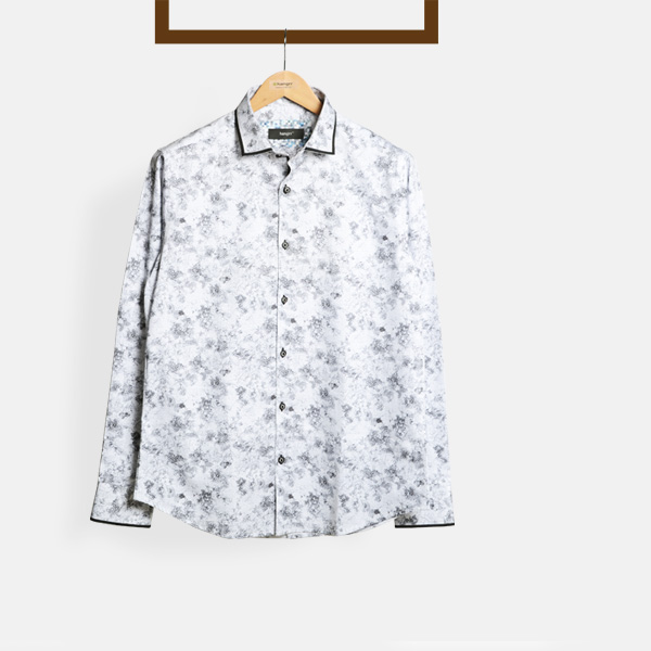 Black On White Print Shirt-mbview-1