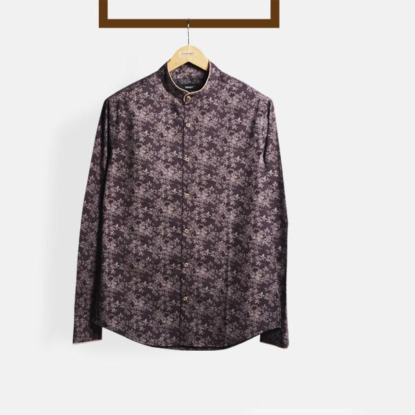 Balinese Maroon Floral Shirt-mbview-main