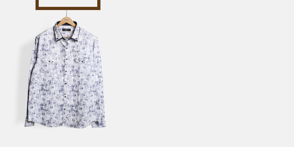 Japanese Blue Floral Shirt- view-1