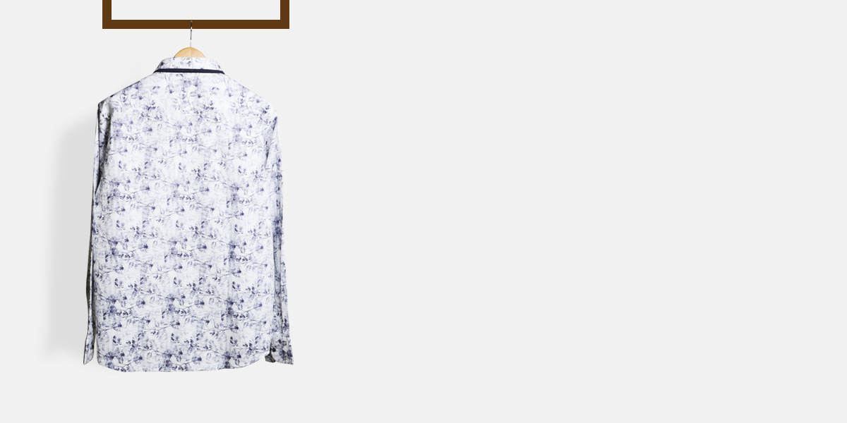Japanese Blue Floral Shirt- view-2