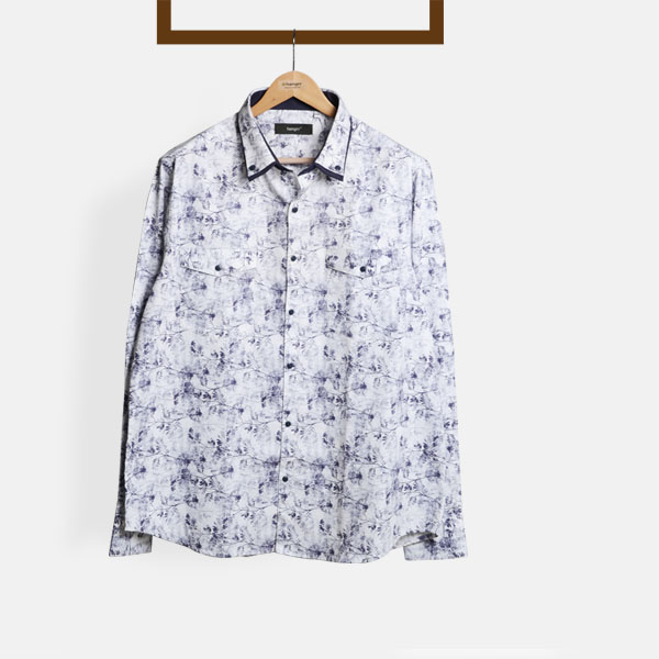 Japanese Blue Floral Shirt-mbview-1