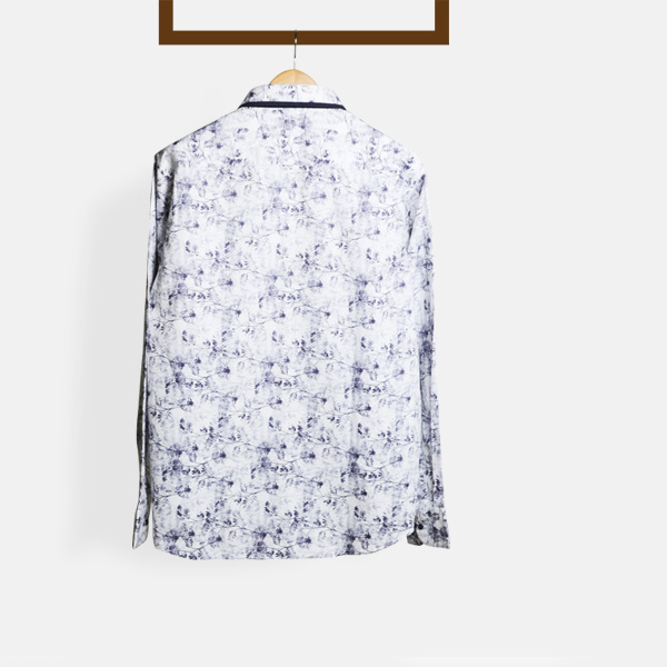 Japanese Blue Floral Shirt-mbview-2