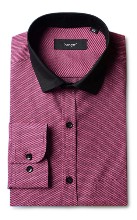 Wine & Black Patterned Shirt