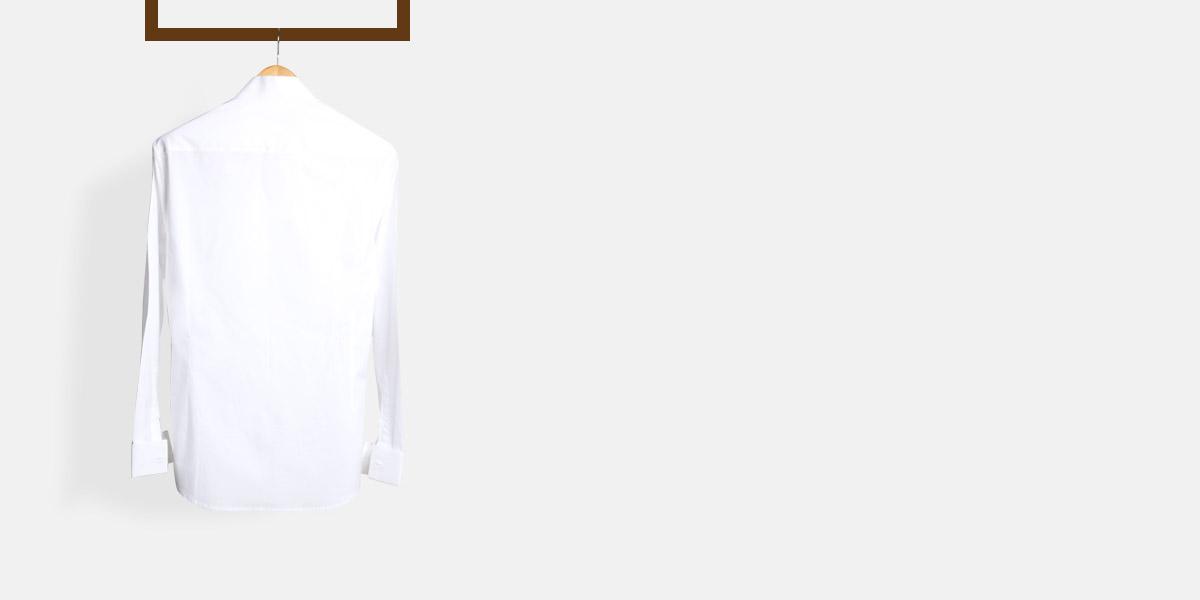 Crisp White Pleated Tuxedo Shirt- view-2
