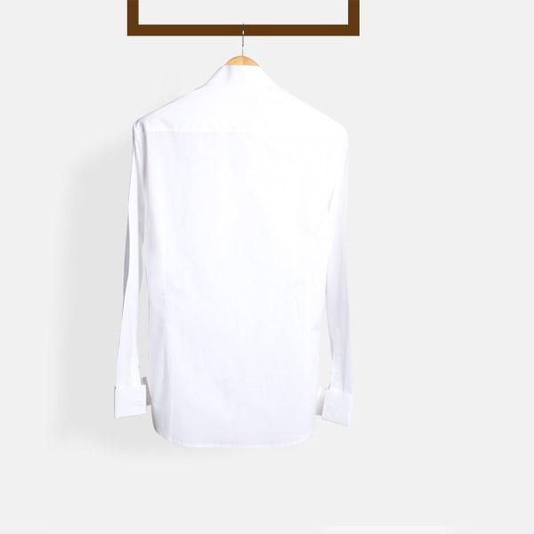 Crisp White Pleated Tuxedo Shirt-mbview-2