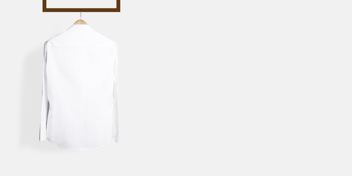 Classic White Mandarin Shirt- view-2