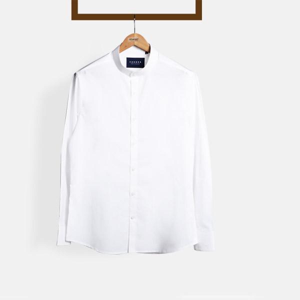 Classic White Mandarin Shirt-mbview-main