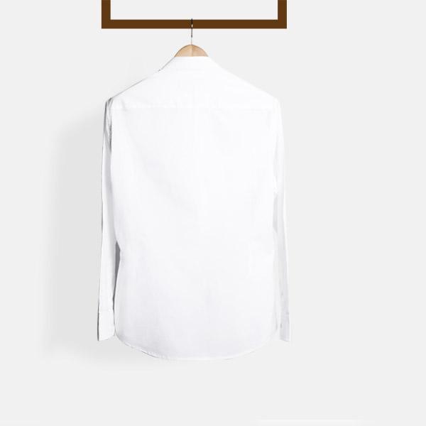 Classic White Mandarin Shirt-mbview-2