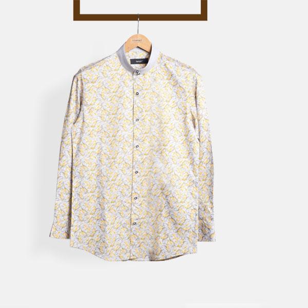 Turkish Yellow Paisley Shirt-mbview-1