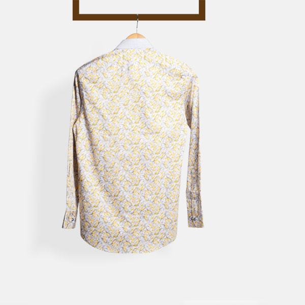 Turkish Yellow Paisley Shirt-mbview-2