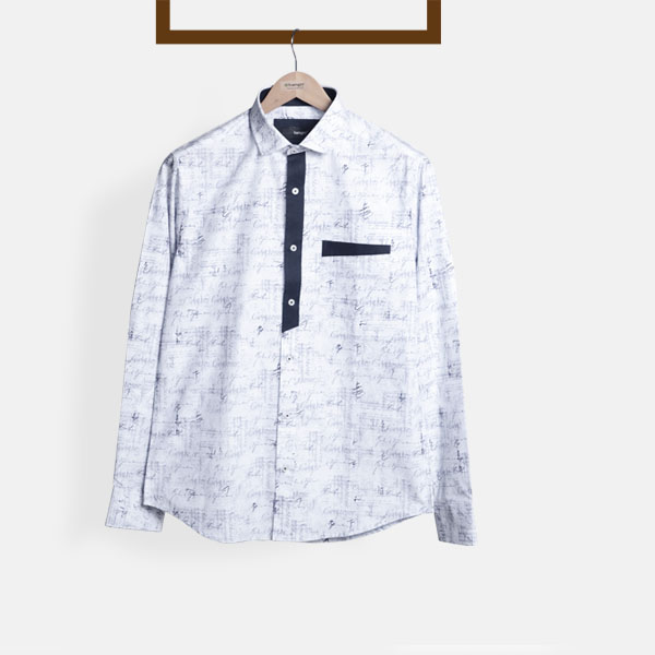 NYC Blue Print Shirt-mbview-1