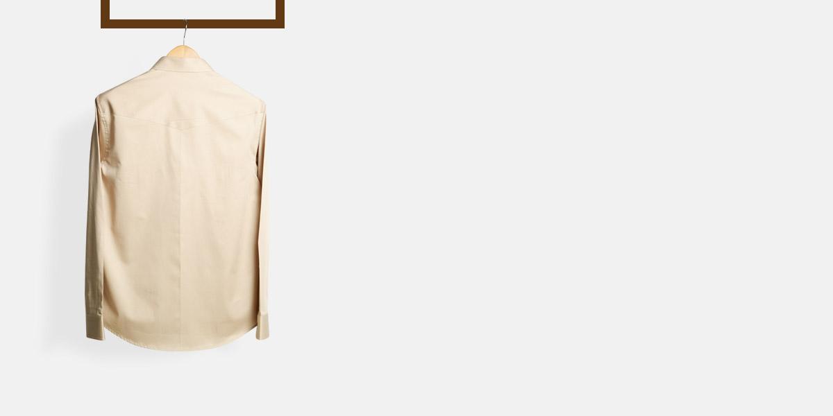 Military Brown Cotton Shirt- view-2