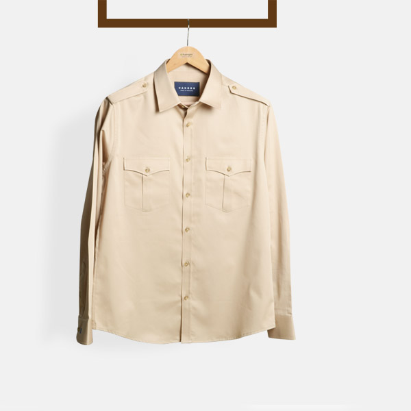 Military Brown Cotton Shirt-mbview-1