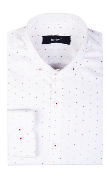 White Printed Stars Shirt