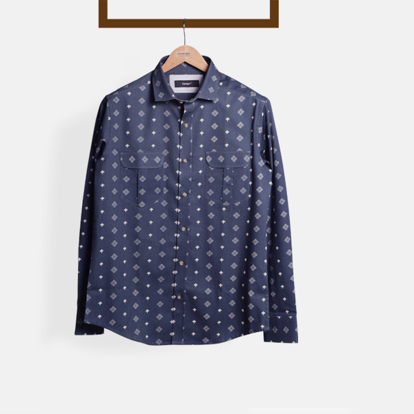 Indigo Blue Washed Shirt-mbview-1