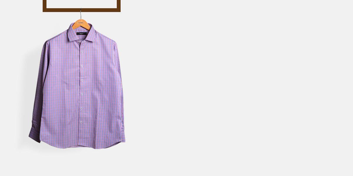 Blue & White Microcheck Shirt- view-1
