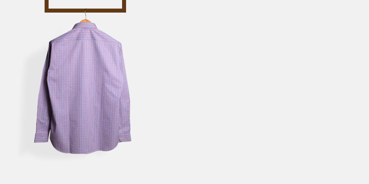 Blue & White Microcheck Shirt- view-2