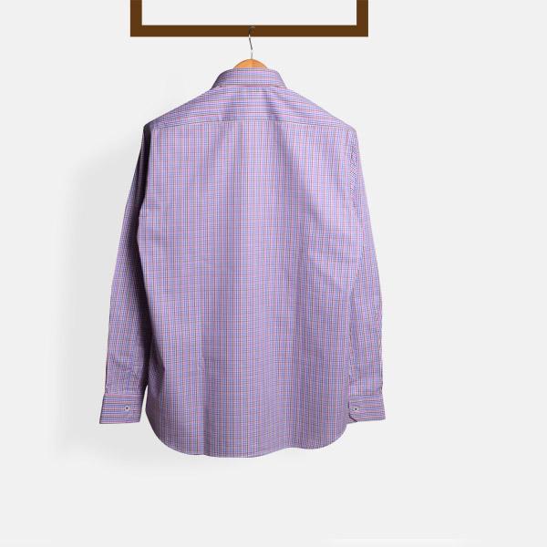 Blue & White Microcheck Shirt-mbview-2