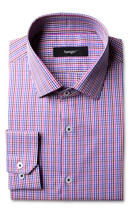 Blue & White Microcheck Shirt