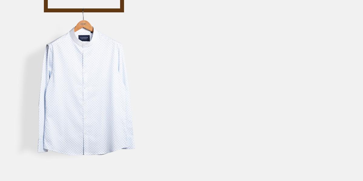 Striped Blue Print Shirt- view-1