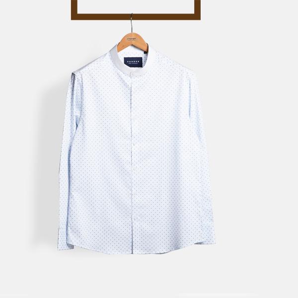 Striped Blue Print Shirt-mbview-1