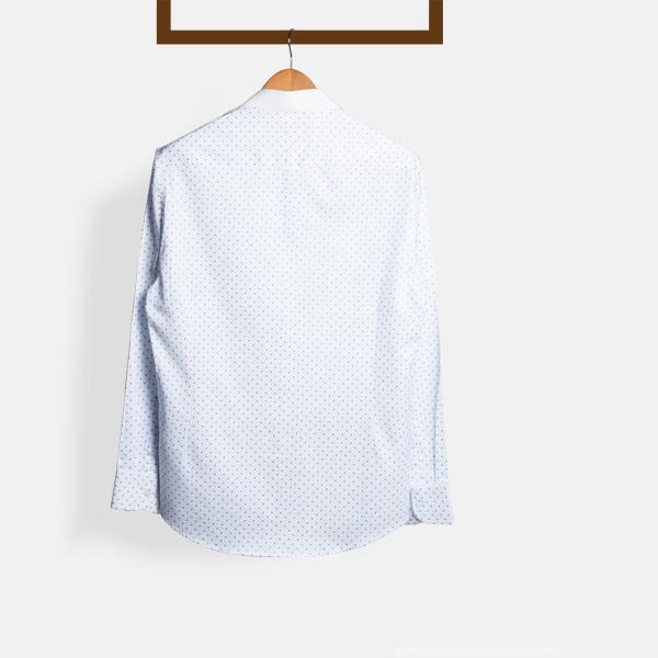 Striped Blue Print Shirt-mbview-2