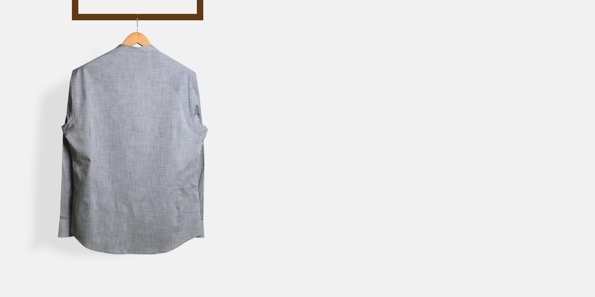 Imperial Chambray Gray Henley Shirt- view-2