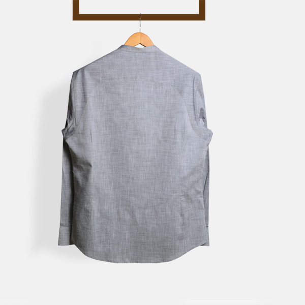 Imperial Chambray Gray Henley Shirt-mbview-2