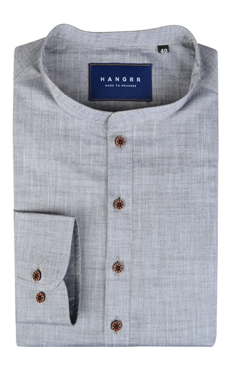 Imperial Chambray Gray Henley Shirt