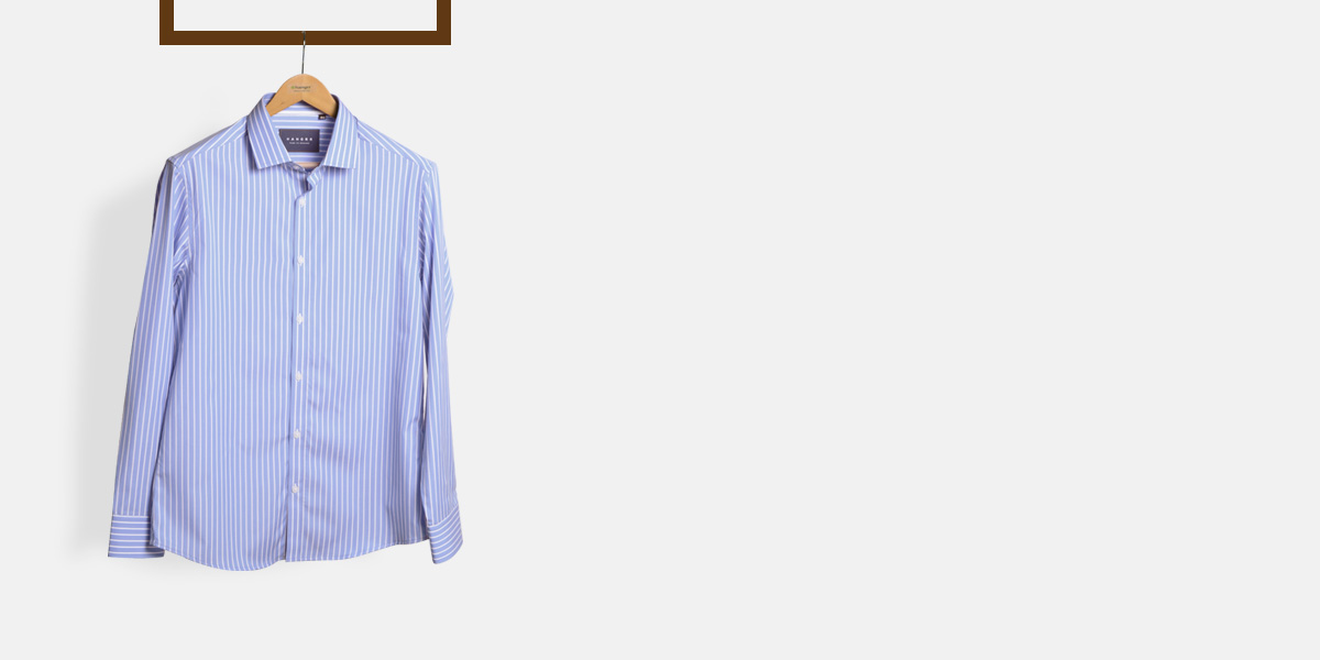 Blue Broadstripes Luxurious Shirt- view-1