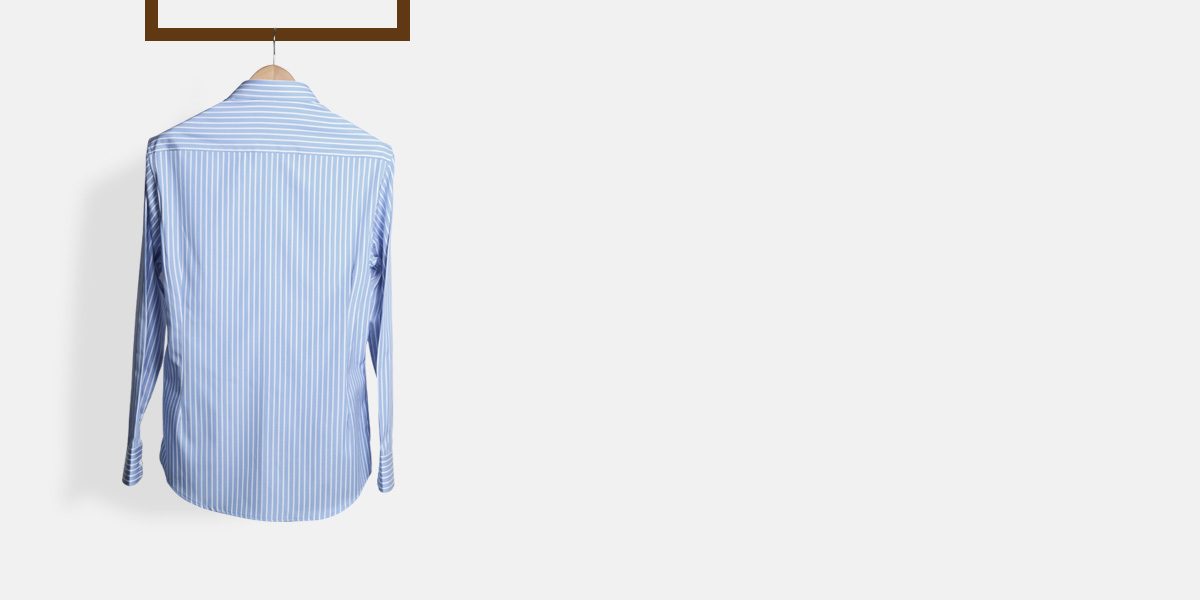 Blue Broadstripes Luxurious Shirt- view-2