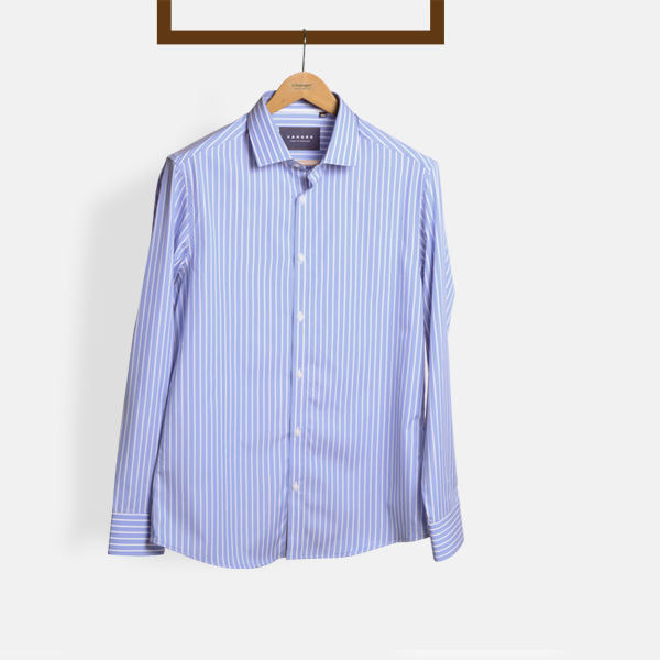 Blue Broadstripes Luxurious Shirt-mbview-1
