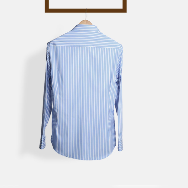 Blue Broadstripes Luxurious Shirt-mbview-2