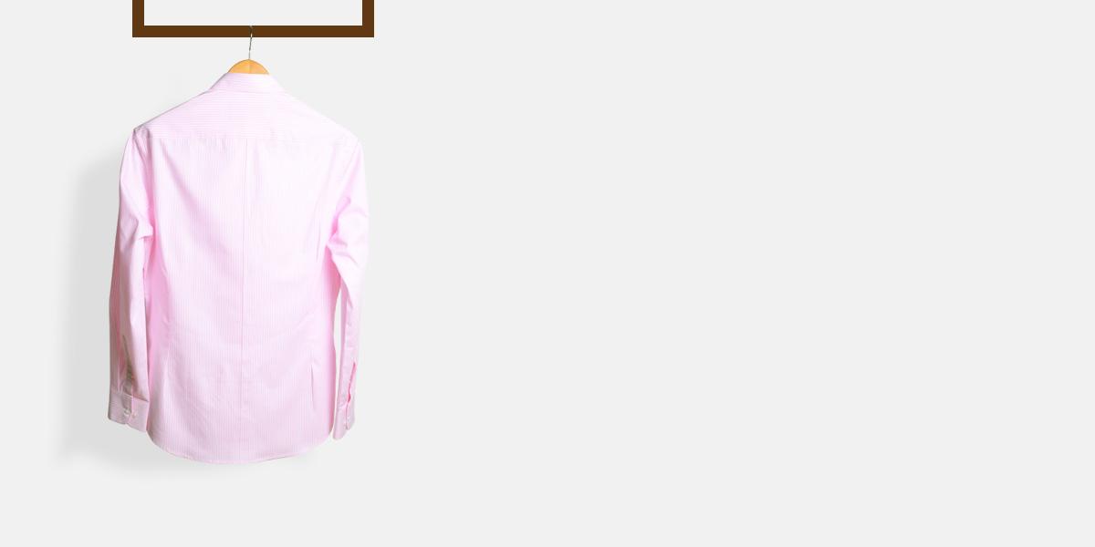 Salmon Pink Striped Shirt- view-2