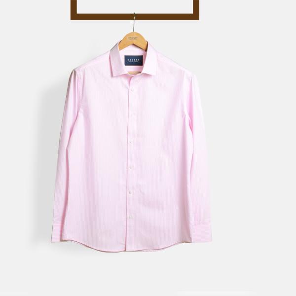Salmon Pink Striped Shirt-mbview-1