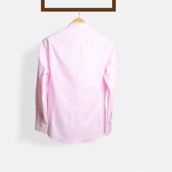 Salmon Pink Striped Shirt-mbview-2
