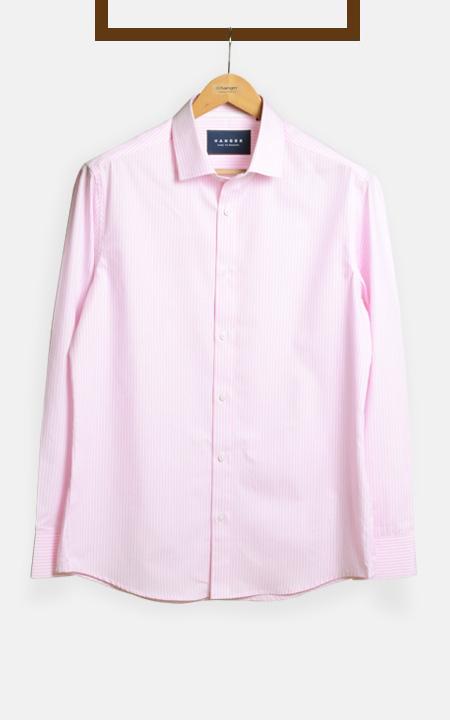 Salmon Pink Striped Shirt
