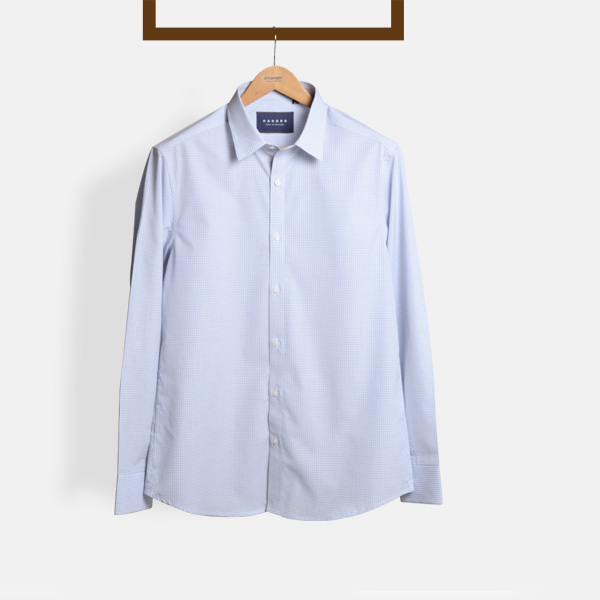 Blue Microcheck Shirt-mbview-1