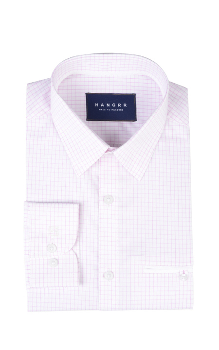 Salmon Pink Checks Shirt