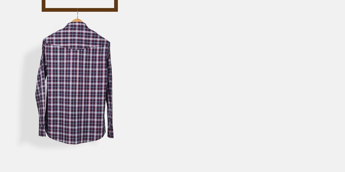 Maroon And Gray Checks Shirt- view-2