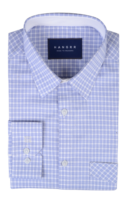 Brushed Blue Checks Shirt