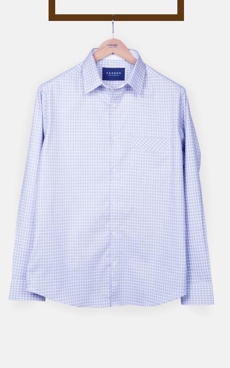 Brushed Blue Checks Shirt