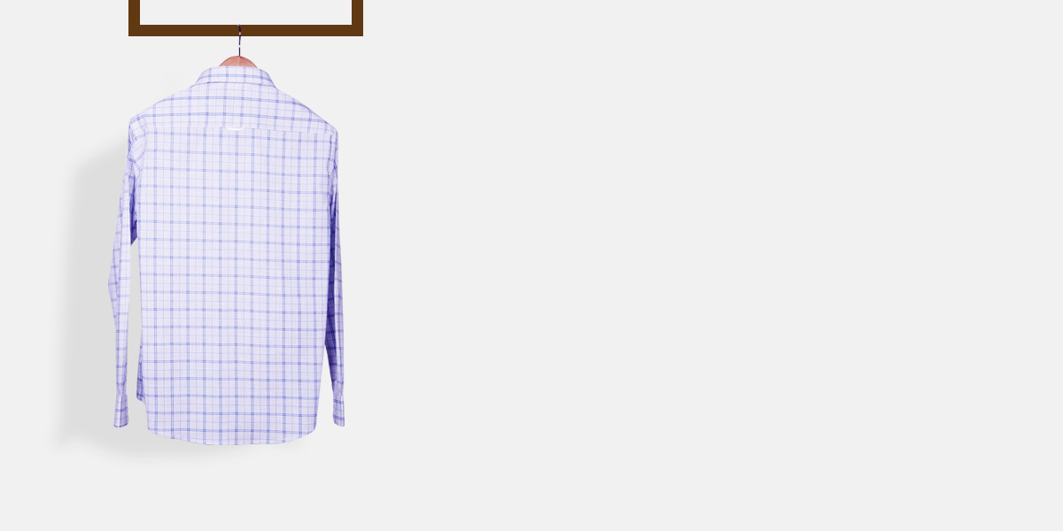 Two-Tone Blue Checks Shirt- view-2