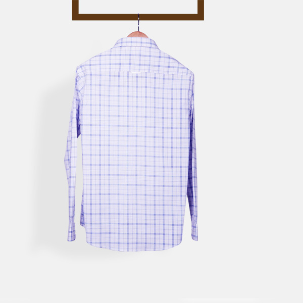 Two-Tone Blue Checks Shirt-mbview-2