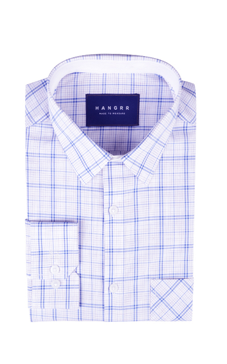 Two-Tone Blue Checks Shirt