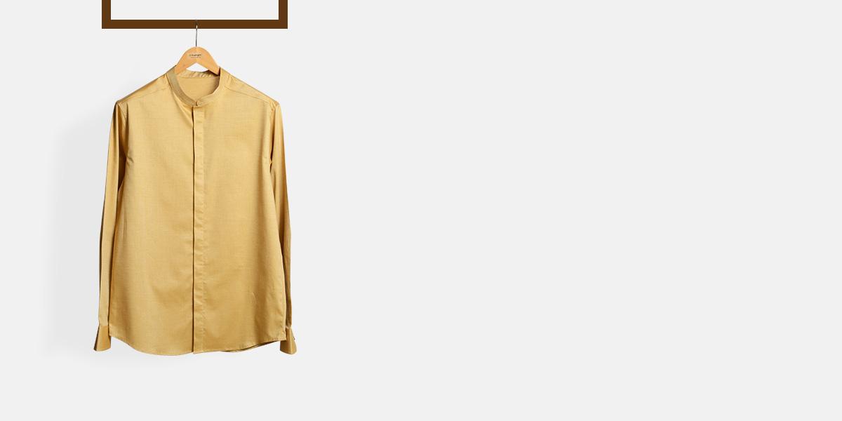 Oxford Brown Henley Shirt- view-1